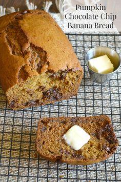 BEST EVER pumpkin chocolate chip banana bread - so moist!