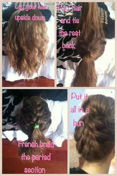 French Braid Tutorial for the back of your head