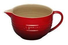 Amazon.com: Le Creuset Stoneware 2-Quart Batter Bowl, Cherry: Kitchen & Dining