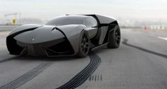 Lamborghini Ankonian- also known as the real life, barely street legal Batmobile.