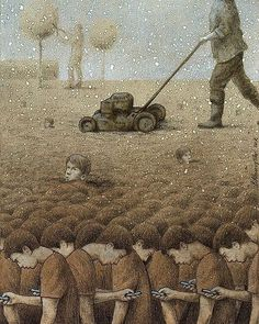 30 Illustrations By Pawel Kuczynski Showing What's Wrong With Modern Society The Polish artist Pawel Kuczynski is an absolute master, combining satire Satirical Illustrations, Meaningful Pictures, Deep Art, Les Religions, Illustrator, Social Art, Social Media, Political Art, Wow Art