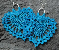 Crochet pineapple earrings