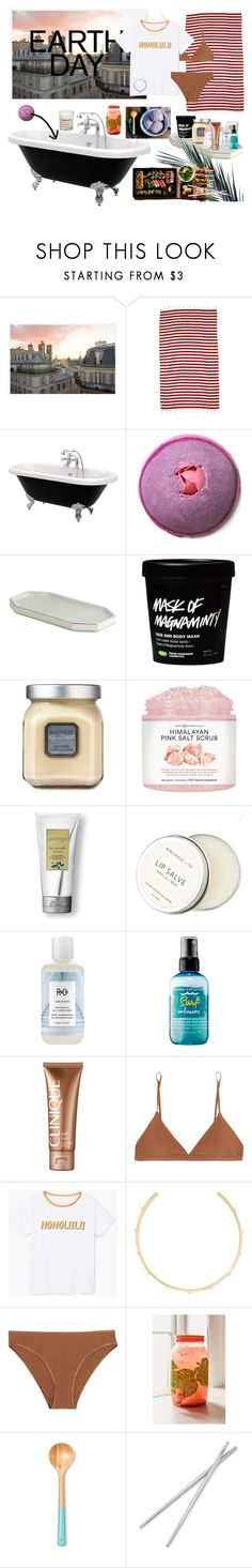 """""""EARTH DAY!"""" by just-around-the-corner ❤ liked on Polyvore featuring Pottery Barn, Mayde, Laura Mercier, Birchrose + Co., R+Co, Bumble and bumble, Clinique, Base Range, MANGO and Jennifer Fisher"""
