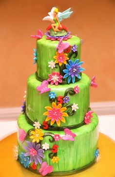 pixie hollow birthday cakes | THE ADVENTURES OF BAKING, DECORATING AND EATING CAKES by Angie