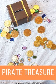 Sensory Activities Toddlers, Sensory Bins, Sensory Play, Toddler Preschool, Pirate Treasure, Pre School, Pirates, Have Fun, Jewels