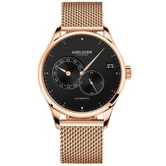Cheap masculino, Buy Quality masculinos relogios directly from China masculino watch Suppliers: AGELOCER Automatic Mechanical Men Watches Brand Luxury New 2017 Male Clock Wrist Watch Man Watch Montre Homme Relogio Masculino Swiss Watch Brands, Mens Watch Brands, Sport Watches, Men's Watches, Mesh Band, Automatic Watches For Men, Casual Watches, Luxury Watches For Men, Watch Bands