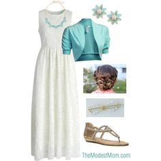Spring Modest Fashion Style - Special Occasion Outfit in Blue & Lace - @ The Modest Mom I Love Fashion, Modest Fashion, Fashion Outfits, Apostolic Fashion, Fashion Clothes, Pretty Outfits, Beautiful Outfits, Cute Outfits, Stylish Outfits
