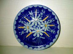 Wandteller Wall Plate Steinzeug Salzglasur BETSCHDORF ALSACE Pottery Dia:22,9 cm