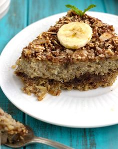 Date & Banana Quinoa Breakfast Bake {GF and  Low Fat} - Food Faith Fitness
