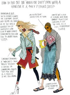 NYFW: Model Off Duty Illustration by Julie Houts for Stylebop … Fashion Sketchbook, Fashion Sketches, Fashion Drawings, Sketchbook Ideas, Bison Print, Illustration Mode, Fashion Art, Fashion Design, Fashion Quotes