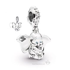Fits pandora Bracelets 2019 New Flying Dumbo Charm 925 Sterling Silver Luxury Necklace pendant Dumbo Pendant DIY Jewelry. Pandora Charms Disney, Bracelet Pandora Charms, Pandora Jewelry, Charm Bracelets, Pandora Pandora, Pandora Story, Mom Jewelry, Geek Jewelry, Pandora Charms