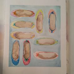 #allaboutshoes #watercolor #watercolour #ballerines #baletki #warszawa #saskakepa #sklepzbutami #buty #shoes #artofinstagram #instaart #dailypainting #pastel