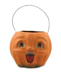 cardboard pumpkin pail   Happy Vintage Pumpkin Bucket