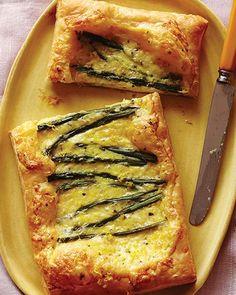 Asparagus & Cheese Tarts with Honey | Sweet Paul Magazine