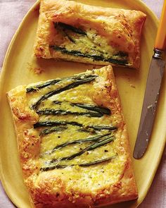 Asparagus & Cheese Tarts with Honey