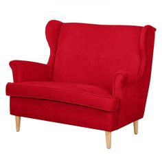 Sofa Piha (2-Sitzer) - Microfaser - Rot