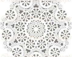 Decorative Mandala Design Stencil or Ceiling by CreativeStencils