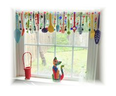 Super  Kitchy Colorful Whimsical Kitchen by LittleLaLaOriginals, $144.00