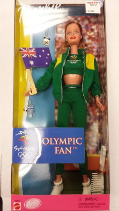 BARBIE - SYDNEY 2000 OLYMPIC FAN - AUSTRALIA - MATTEL !!