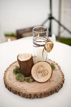 rustic lantern centerpiece | Alternative Ideas for Wedding Centerpieces by eLidi
