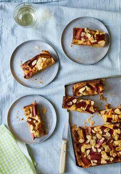 Ravinder Bhogal's picnic recipes for tomato polenta cake and rhubarb almond bars | Baking | The Guardian Cheese Polenta, Polenta Cakes, Ravinder Bhogal Recipes, Picnic Foods, Picnic Recipes, Baking Tins, Bread Baking