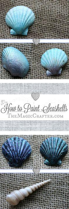 How to Paint Seashells ♥ DIY Summer Mermaid Beach Crafts ♥ Quick & Easy Video Tutorial ♥ #seashells #mermaids #SummerCrafts