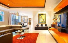Colorful Eclectic Living Room interior design 2012 interior decorating before and after design Living Room Orange, Colourful Living Room, Eclectic Living Room, Living Room Interior, Home Interior Design, Living Room Decor, Interior Decorating, Decorating Ideas, Living Rooms