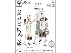 "1930's Aprons (B100 cm - 39""/One size) PDF sewing pattern [VSV 37005]"