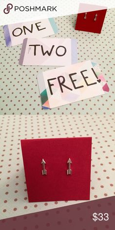 ❣️ FREE to next bundle ❣️ arrow stud earrings I love bundles! The next person to buy a bundle from me will get this item included as a free gift! Choose any 2 or more items from my closet, bundle them, & add this as a 3rd! (Or 4th or 5th...) I'll make you a custom offer that discounts the price of the gift & maybe a little bonus savings. 😘 Note that there will be multiple One Two Free gift options to choose from sometimes, so cruise my closet & pick your favorite from what's not sold. First…