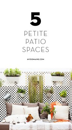 Gorgeous yet small patio spaces to inspire your own