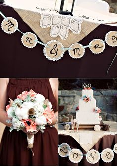 Rustic Elegance   Burlap and lace wedding