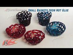 DIY Mini Baskets from Hot Glue | How to make | JK Arts 584 - YouTube