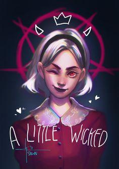 A Little Wicked by on DeviantArt Witch Aesthetic, Aesthetic Art, Weird Sisters, Teen Witch, Kiernan Shipka, Sabrina Spellman, Psy Art, Dibujos Cute, Goth Art