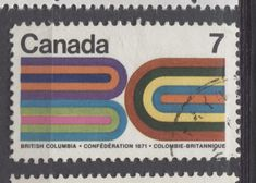 Canada (SG Multicoloured 1971 Centenary of BC's Entry Into Confederation Used Paper Cover, Chicago Cubs Logo, Booklet, Cover Design, Stamps, Canada, Graphic Design, Cool Stuff, Creative