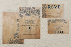 Rustic Woodgrain - Rectangle Wedding Invitation by MagnetStreet