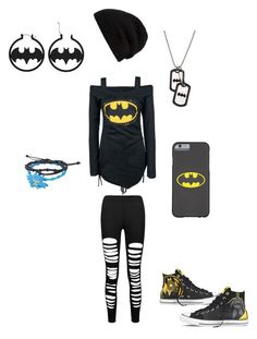 """""""Batman outfit #3"""" by serenity-sempiternal2006 ❤ liked on Polyvore featuring Converse and Rick Owens"""