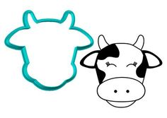 Cow Face Cookie CutterThe Cookie Cutter Club cookie cutters are affordably priced and come in various sizes and cutting depths. These cookie cutters can be used to make decorated cookies using royal icing. - Cookie Cutters - Ideas of Cookie Cutters Farm Cookies, Cut Out Cookies, Animal Cookie Cutters, Royal Icing Transfers, Hot Chocolate Cookies, Cow Face, Royal Icing Cookies, Sugar Cookies, Cookie Desserts