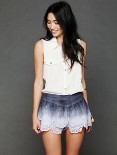 Free People Tiered Eyelet Short, $78.00 >> on sale not sure how much