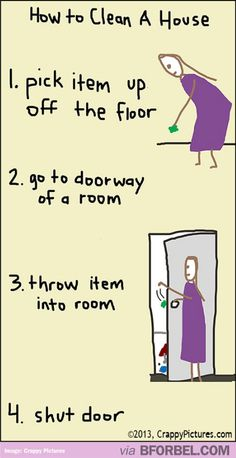 b for bel: How to Clean the House in 4 Steps