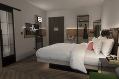 Tour Moxy Lille City with our photo gallery. Our Lille hotel photos will show you accommodations, public spaces & more. Double Room, Rain Shower, Fun At Work, Front Desk, Guest Room, Design Inspiration, Bed, City Photo, Boutique
