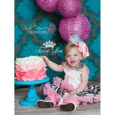 Light Pink & Zebra Birthday Cupcake Pettiskirt Outfit ~ She'll love wearing this adorable birthday pettiskirt outfit on her special day!