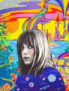 Jane Birkin in Wonderwall directed by Joe Massot, 1968. artwork.