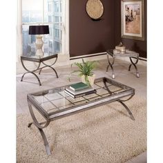 Emerson 3 Piece Coffee Table Set By Steve Silver Furniture. $337.45. Decorative  Metal Legs
