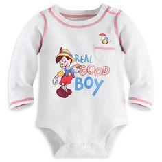 Pinocchio Disney Cuddly Bodysuit for Baby