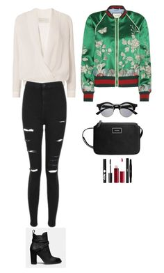 """""""Style #247"""" by maksimchuk-vika ❤ liked on Polyvore featuring Coach, Michelle Mason, Topshop, Gucci, MANGO, Charlotte Russe, Yves Saint Laurent and Retrò"""