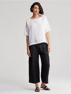 Eileen Fisher Organic Linen collection is lovely.