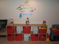 Dr. Suess playroom storage