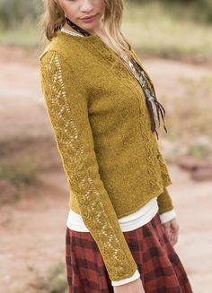 Knitting pattern  :  Aspens Cardigan by Anne Podlesak     http://www.ravelry.com/patterns/library/aspens-cardigan