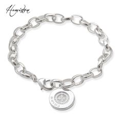 Thomas Basic Charm Bracelet with Circle-clasp Fit TS Charms Club, Plated Fashion Jewelry Gift for Women and Men TS B632