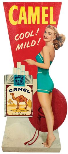 Camel Cigarette sign 1940s